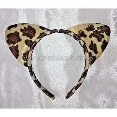 Ушки леопарда на обруче