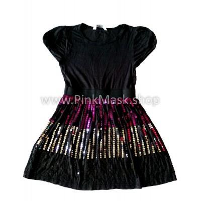 Платье чёрное с блёстками