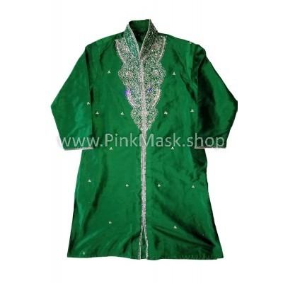 Кафтан зелёный. Индийский