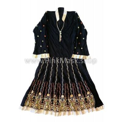 Платье Чёрное льняное
