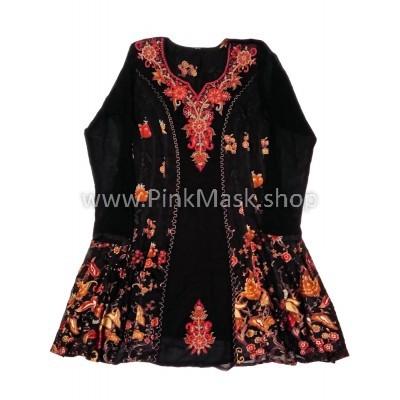 Платье Чёрное с вышивкой
