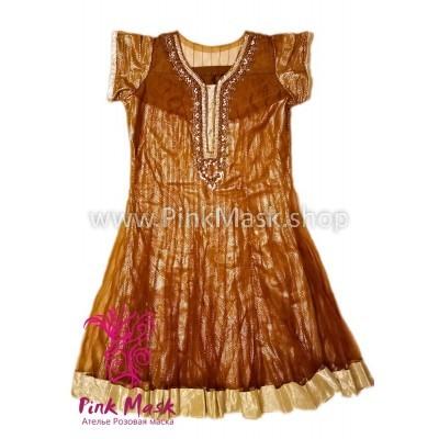 Платье бронзовое