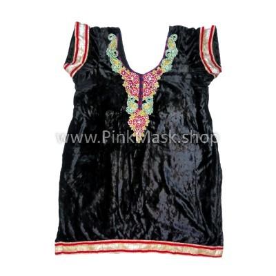 Платье чёрный бархат