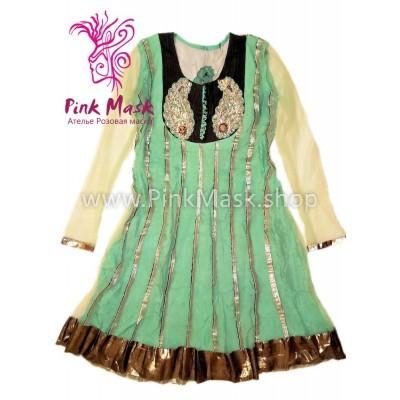 Платье этнос салатовое