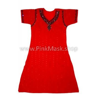 Платье красное. Трапеция