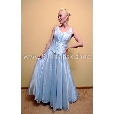 Платье нежно голубое