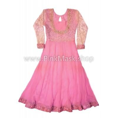 Платье Розовое. Гипюр
