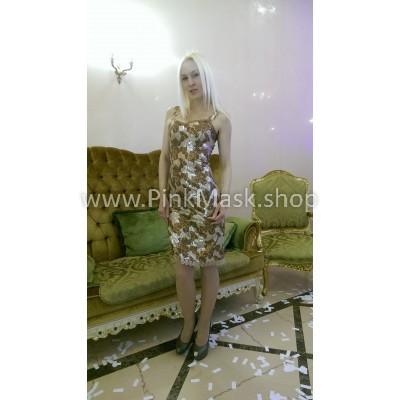 Платье золотое в пайетках