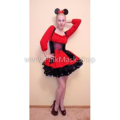 Мышка. Мини маус в чёрно-красном
